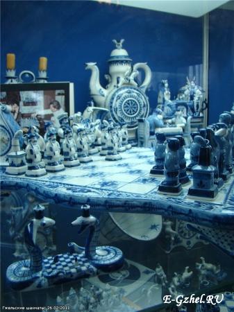 """Гжельские юбилейные (650 лет) шахматы / Фото из блога """"Проба пера Дианы"""" Rambler-Планета"""